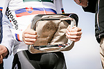 Presentation to defending champion Peter Sagan (SVK) Bora-Hansgrohe at the team presentations in Compiegne before Paris-Roubaix 2019, Compuiegne, France. 13th April 2019<br /> Picture: ASO/Pauline Ballet | Cyclefile<br /> All photos usage must carry mandatory copyright credit (&copy; Cyclefile | ASO/Pauline Ballet)
