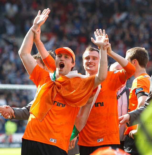 Jon Daly and David Robertson celebrate