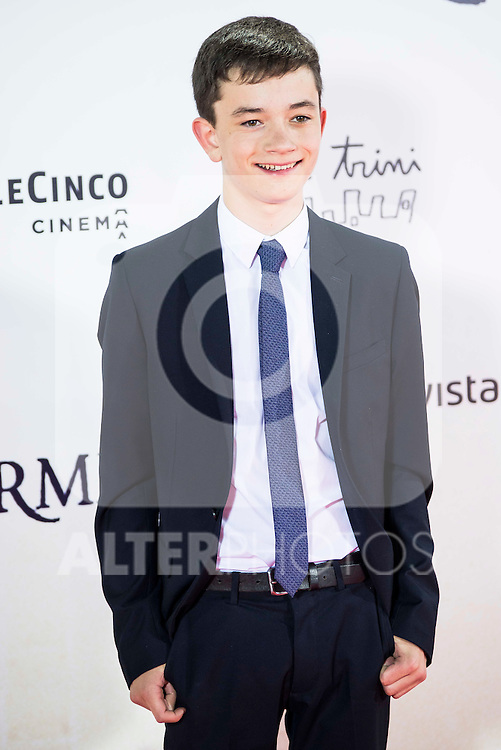 "Lewis MacDougall during the premiere of the spanish film ""Un Monstruo Viene a Verme"" of J.A. Bayona at Teatro Real in Madrid. September 26, 2016. (ALTERPHOTOS/Borja B.Hojas)"