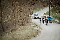 Team AG2R La Mondiale (FRA) race reconnaissance 1 day prior to the 13th Strade Bianche 2019 (1.UWT)<br /> One day race from Siena to Siena (184km)<br /> <br /> ©kramon