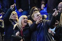 1st February 2020; St Andrews, Birmingham, Midlands, England; English Championship Football, Birmingham City versus Nottingham Forest; Birmingham City fans taunt Nottingham Forest after their side won 2-1