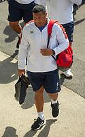 England's Mako Vunipola arrives at the ground<br /> <br /> Photographer Bob Bradford/CameraSport<br /> <br /> Quilter Internationals - England v Ireland - Saturday August 24th 2019 - Twickenham Stadium - London<br /> <br /> World Copyright © 2019 CameraSport. All rights reserved. 43 Linden Ave. Countesthorpe. Leicester. England. LE8 5PG - Tel: +44 (0) 116 277 4147 - admin@camerasport.com - www.camerasport.com