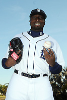 Feb 21, 2009; Lakeland, FL, USA; The Detroit Tigers pitcher Dontrelle Willis (21) during photoday at Tigertown. Mandatory Credit: Tomasso De Rosa/ Four Seam Images