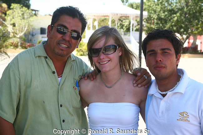 THREE FREINDS POSE at CABO SAN LUCAS