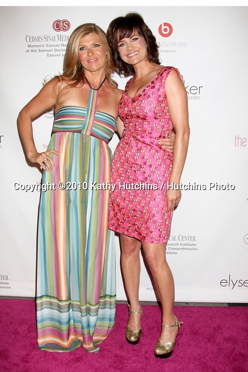 LOS ANGELES - SEP 25:  Connie Britton & Carla Gugino arrives at the Pink Party 2010 at W Hollywood Hotel on September 25, 2010 in Los Angeles, CA