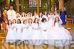 Pupils from Helina Hennessys class from Presentation primary, Tralee at Saint Johns church on Saturday..Front row l to r: Simera Hunt, Caoimhe Donnelly, Eire Casapao, Taylor Rogers, Ava Mc Grath, Cheyanne Moran Wattam, Lady Panagsagan, Angelina O Brien.Back row l to r: Lisa O Flaherty, Fr. Kieran O Brien, Sarah O Sullivan, Emma Buckley, Molly O Neill, Bla?thnaid McCarthy, Keira McCann, Paula Clifford, Patrica Gutteridge, Emma O Donnell Helena Hennessy..