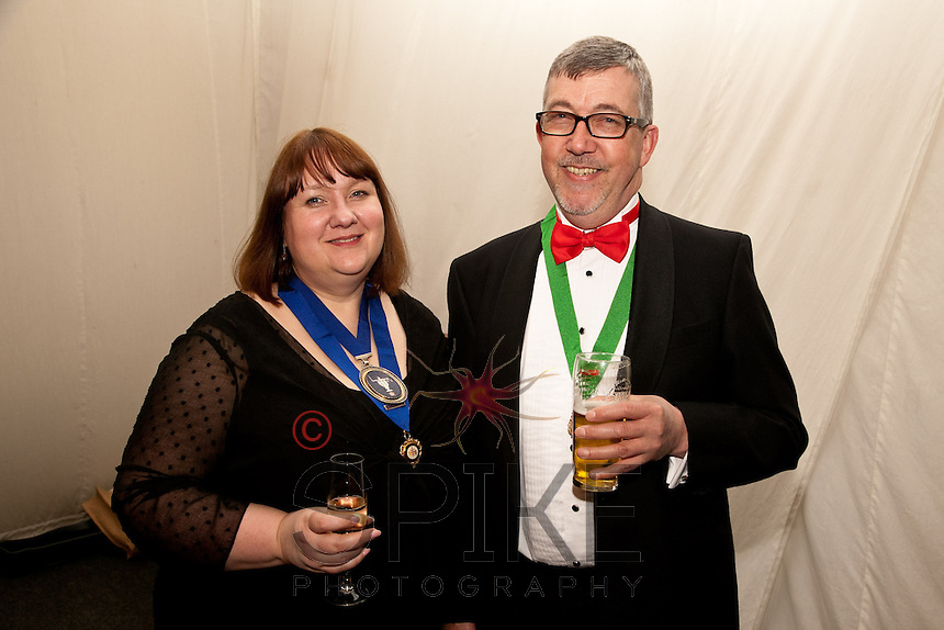 Linda Lee, Presidient of Nothamptonshire Law Society with Stepehn Warner, past President of Nottinghamshire Law Society
