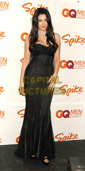 MONICA BELLUCCI .Spike TV Presents GQ Men of the Year Awards 2003 .at The Regent Wall Street.black dolce & gabbana corset dress, full length, full-length.www.capitalpictures.com.sales@capitalpictures.com.©Capital Pictures.