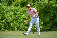 Scott Piercy (USA) watches his tee shot on 2 during Round 2 of the Zurich Classic of New Orl, TPC Louisiana, Avondale, Louisiana, USA. 4/27/2018.<br /> Picture: Golffile | Ken Murray<br /> <br /> <br /> All photo usage must carry mandatory copyright credit (&copy; Golffile | Ken Murray)
