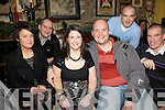Having a wonderful New Year's Eve in Flahive's Bar, Ballyheigue were l/r Moira Casey, John Leen, Angela Dineen, Michael Leen, Kevin O'Sullivan and Eamon O'Sullivan.............................................................................................................................................................................................................................................................................. ............