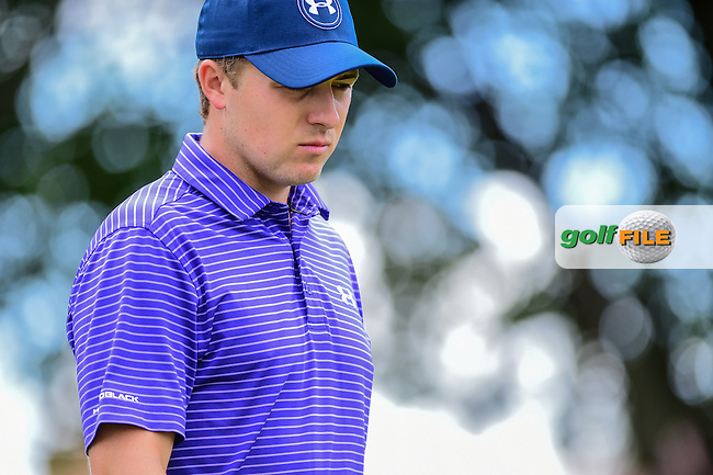 Jordan Spieth (USA) approaches the 1st green during the round 1 of  the AT&amp;T Byron Nelson, TPC Four Seasons, Irving, Texas, USA. 5/19/2016.<br /> Picture: Golffile | Ken Murray<br /> <br /> <br /> All photo usage must carry mandatory copyright credit (&copy; Golffile | Ken Murray)