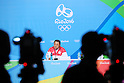 Yasuhiro Yamashita (JPN), <br /> AUGUST 1, 2016  : <br /> Yasuhiro Yamashita and Yuji Takada attend a press conference <br /> at Main Press Center <br /> during the Rio 2016 Olympic Games in Rio de Janeiro, Brazil. <br /> (Photo by Yohei Osada/AFLO SPORT)