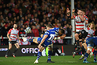 4th January 2020; Kingsholm Stadium, Gloucester, Gloucestershire, England; English Premiership Rugby, Gloucester versus Bath; Chris Cook of Bath kicks from the base of the ruck - Editorial Use