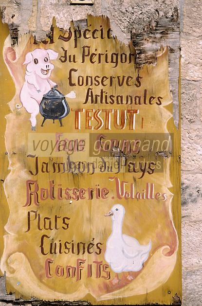 Europe/France/Aquitaine/24/Dordogne/Vallée de la Vézère/Le Bugue: Ancienne enseigne de conserves artisanales du Périgord