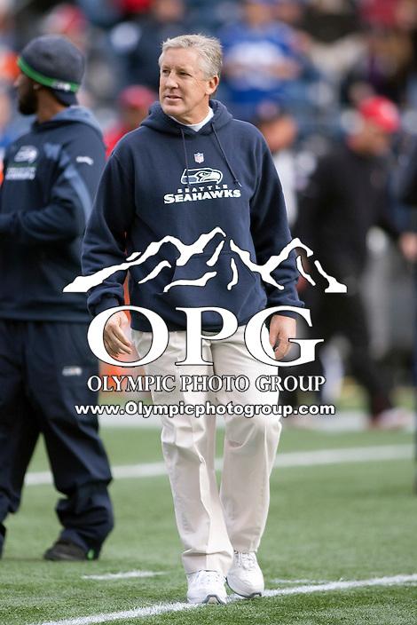 Dec 24, 2011:  Seattle head coach Pete Carroll  against San Francisco at Century Link Stadium in Seattle WA.  San Francisco defeated Seattle 19-17.