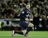 Paris Saint-Germain's Zlatan Ibrahimovic during Champions League 2012/2013 match.February 12,2013. (ALTERPHOTOS/Acero) /NortePhoto
