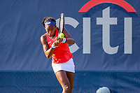Washington, DC - August 3, 2019:  Coco Gauff (USA) in action during the  Women Doubles finals at William H.G. FitzGerald Tennis Center in Washington, DC  August 3, 2019.  (Photo by Elliott Brown/Media Images International)