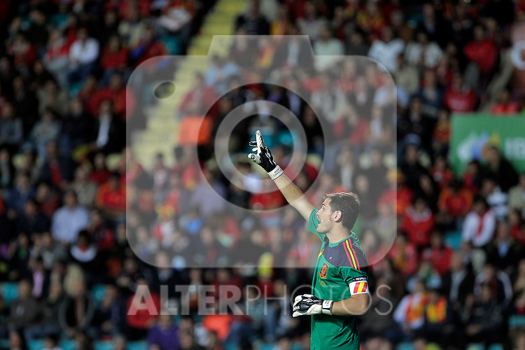 Spain's Iker Casillas during UEFA Eurocup 2012 qualifying match.October 8,2010. (ALTERPHOTOS/Acero)