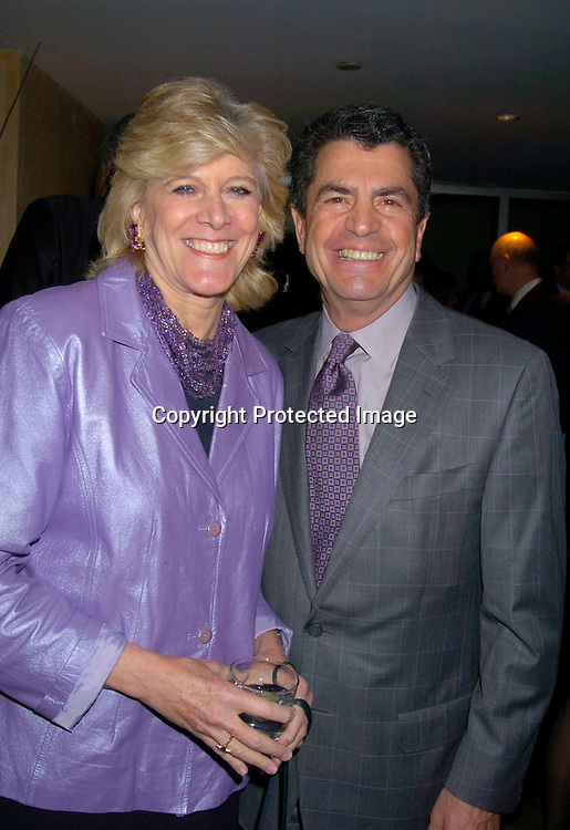 Lynn Sherr and Mitchell Rosenthal ..at The Phoenix House Benefit honoring Hip-Hop giant Russell Simmons on March 31, 2004 at the W Hotel in..New York City. Photo by Robin Platzer, Twin Images