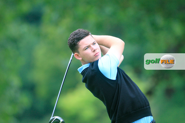 Peter McKeever (Castle) during the Ulster Youths Amateur Open Championship final at Belvoir Park Golf Club, 73 Church Road, Belfast, County Antrim BT8 7AN, Northern Ireland.  06/08/2015.<br /> Picture: Golffile | Fran Caffrey<br /> <br /> <br /> All photo usage must carry mandatory copyright credit (&copy; Golffile | Fran Caffrey)