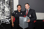 Steelers Most Improved Player of the Year Sean Bagshaw with Moana Leilua. . Counties Manukau Rugby Unions Senior Prize giving held at ECOLight Stadium Pukekohe on Wednesday November 2nd, 2016.<br /> Photo by Richard Spranger.