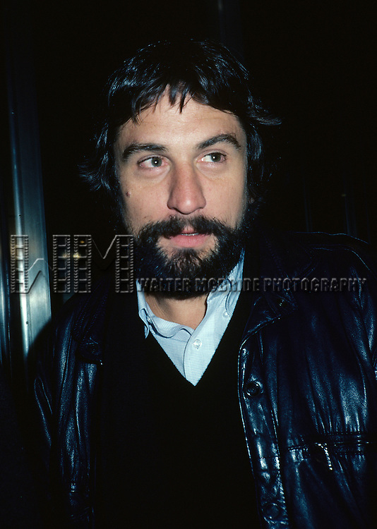 Robert DeNiro pictured in New York City in 1982.