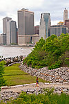 Brooklyn Bridge Park with a view of lower Manhattan