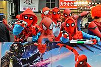 Spider-Man Fans bei der Premiere des Kinofilms 'Spider-Man: Homecoming' im Kabukicho Cinecity Park. Tokio, 07.08.2017