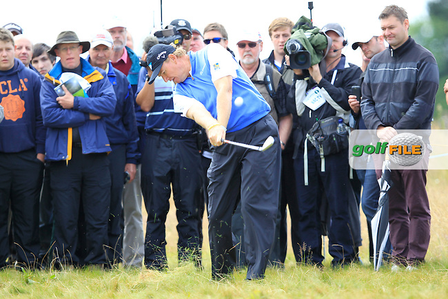 Ernie Els (RSA) plays his 2nd shot from the rough on the 14th hole during Thursday's Round 1 of the 141st Open Championship at Royal Lytham & St.Annes, England 19th July 2012 (Photo Eoin Clarke/www.golffile.ie)