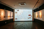 """The House of Sharing for Comfort Women, June 7, 2016 : A map showing location of Japanese military brothels during 1931-1945, is seen at the Museum of Sexual Slavery by Japanese Military in the House of Sharing in Gwangju, Gyeonggi province, about 30 km (18 miles) southeast of Seoul, June 7, 2016. The House of Sharing is a shelter for living South Korean """"comfort women"""", who said they were forced to become sexual slavery by Japanese military during the Second World War. It was founded in 1992 with funds organized by Buddhists and other civic groups. The Museum of Sexual Slavery by Japanese Military locates in the shelter. (Photo by Lee Jae-Won/AFLO) (SOUTH KOREA)"""