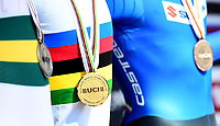 Picture by Simon Wilkinson/SWpix.com - 24/09/2018 - Cycling 2018 Road Cycling World Championships Innsbruck-Tiriol, Austria - Junior Men's Individual Time Trial - Medals