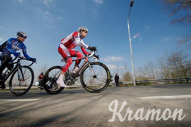 3 Days of De Panne.stage 1: Middelkerke - Zottegem..leading duo near Oudenaarde.