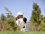 JEJU, SOUTH KOREA - APRIL 25:  Ernie Els of South Africa tees off on the 16th hole during the Round Three of the Ballantine's Championship at Pinx Golf Club on April 25, 2010 in Jeju, South Korea. Photo by Victor Fraile / The Power of Sport Images