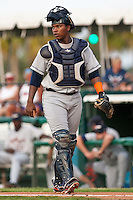Julio Rodriguez #54 of the Lakeland Flying Tigers during a game against the Daytona Cubs at Jackie Robinson Ballpark on June 21, 2011 in Daytona Beach, Florida. (Scott Jontes / Four Seam Images)