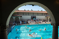 Occidental College men's water polo vs. Redlands in Taylor Pool during Homecoming and Family Weekend on Saturday, Oct. 14, 2017.<br /> (Photo by Marc Campos, Occidental College Photographer)
