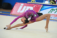 Viktoria Mazur of Ukraine performs with ribbon at 2011 Holon Grand Prix at Holon, Israel on March 5, 2011.  (Photo by Tom Theobald).