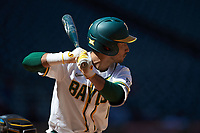 Ricky Martinez (11) of the Baylor Bears at bat against the Missouri Tigers in game one of the 2020 Shriners Hospitals for Children College Classic at Minute Maid Park on February 28, 2020 in Houston, Texas. The Bears defeated the Tigers 4-2. (Brian Westerholt/Four Seam Images)