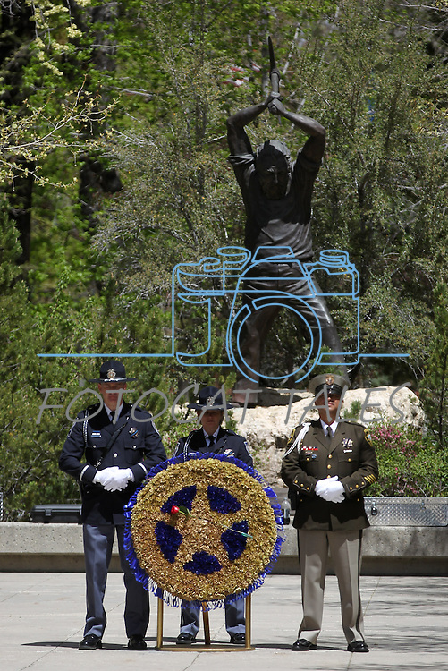 Images from the 15th annual Nevada Law Enforcement Officers Memorial ceremony in Carson City, Nev., on Thursday, May 3, 2012. Three names were added to the wall bringing the total to 120 Nevada law officers who have been killed in the line of duty since 1861..Photo by Cathleen Allison