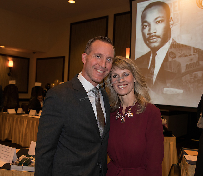 Darin and Heather Balaam during the 29th Annual Dr. Martin Luther King, Jr. Dinner Celebration at the Atlantis Casino Resort Spa in Reno, Monday night, Jan. 16, 2017.