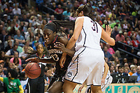 NASHVILLE, TN - The Stanford Cardinal competes against the UConn Huskies in Nashville, TN during the second game of the 2014 NCAA Final Four semifinals at the Bridgestone Arena.
