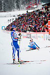 HOLMENKOLLEN, OSLO, NORWAY - March 17: (L-R) Aino-Kaisa Saarinen of Finland (FIN) and Tuva Toftdahl Staver of Norway (NOR) after finishing the Ladies 30 km mass start race, free technique, at the FIS Cross Country World Cup on March 17, 2013 in Oslo, Norway. (Photo by Dirk Markgraf)