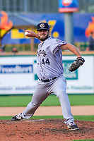 Kane County Cougars pitcher Cody Clark (44) during game one of a Midwest League doubleheader against the Wisconsin Timber Rattlers on June 23, 2017 at Fox Cities Stadium in Appleton, Wisconsin.  Kane County defeated Wisconsin 4-3. (Brad Krause/Krause Sports Photography)
