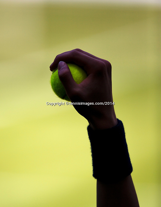 England, London, 28.06.2014. Tennis, Wimbledon, AELTC, Ballboy with ball<br /> Photo: Tennisimages/Henk Koster