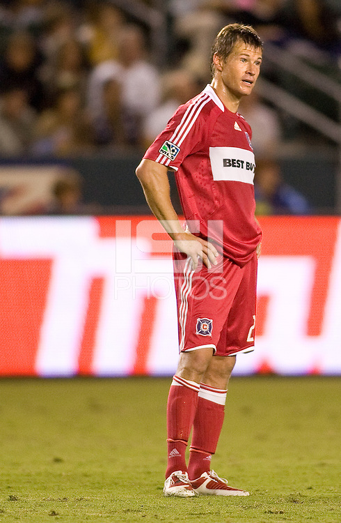 Chicago Fire forward Brian McBride waits patiently. The LA Galaxy defeated the Chicago Fire 1-0 at Home Depot Center stadium in Carson, California on Friday October 2, 2009...