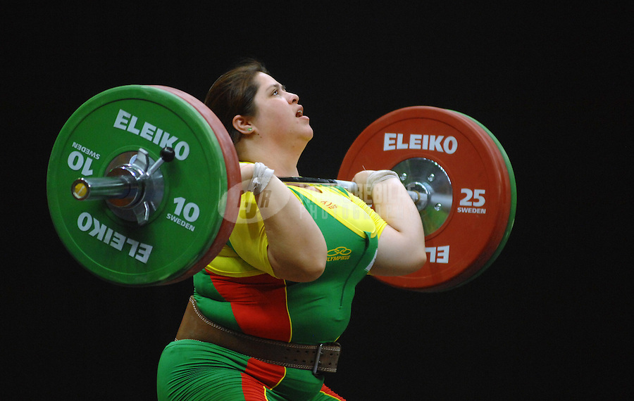 Jul 18, 2007; Rio de Janeiro, Brazil; Eldy Nair Salazar (BOL) during the +75 kg womens weightlifting final in the Pan American Games at the Rio Centro Pavilion in Rio de Janeiro. Mandatory Credit: Mark J. Rebilas-US PRESSWIRE Copyright © 2007 Mark J. Rebilas
