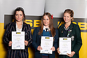 Equestrian Eventing Girls finalists Devon Raos, Chloe Kennedy and Harriet Smith. ASB College Sport Young Sportsperson of the Year Awards held at Eden Park, Auckland, on November 11th 2010.