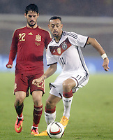 Spain's Isco (l) and Germany's Bellarabi during international friendly match.November 18,2014. (ALTERPHOTOS/Acero) /NortePhoto<br />