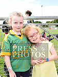 Sorcha McLoughlin and Emma Coleman at the Duleek GFC family fun day.   Photo:Colin Bell/pressphotos.ie