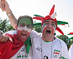 11 June 2006: Iran fans. Mexico played Iran at the Frankenstadion in Nuremberg, Germany in match 7, a Group D first round game, of the 2006 FIFA World Cup.
