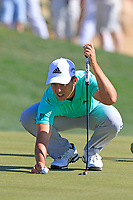 Xander Schauffele (USA) on the 6th green during Saturday's Round 3 of the Waste Management Phoenix Open 2018 held on the TPC Scottsdale Stadium Course, Scottsdale, Arizona, USA. 3rd February 2018.<br /> Picture: Eoin Clarke | Golffile<br /> <br /> <br /> All photos usage must carry mandatory copyright credit (&copy; Golffile | Eoin Clarke)